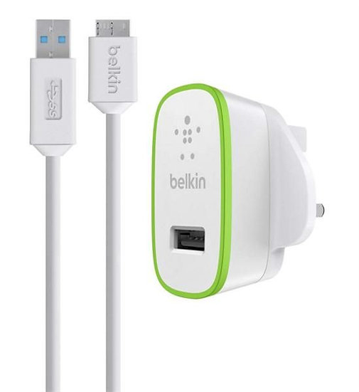 Belkin Home Charger With Usb 3.0 Micro-B Cable (10 Watt/2.1 Amp)