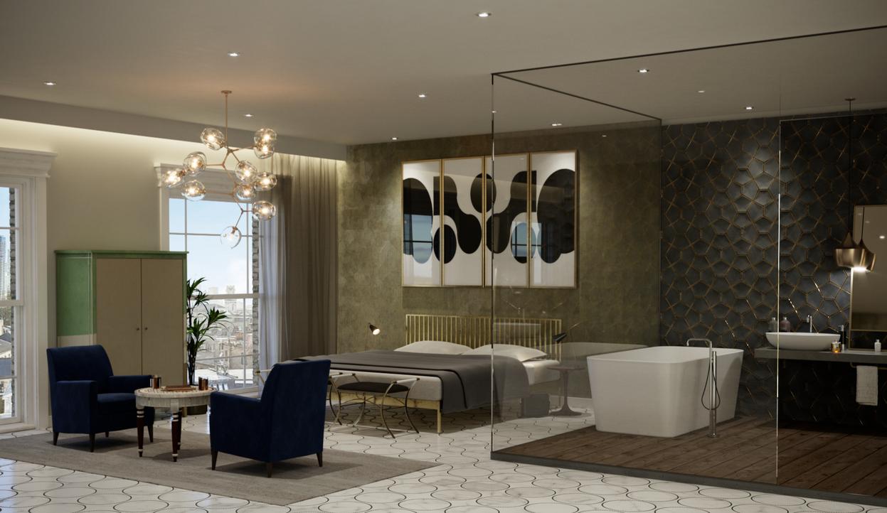 Hotel Bedroom & Bathroom