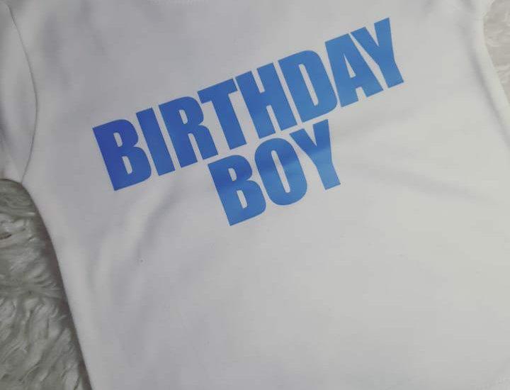Birthday Boy ballon back t-shirt
