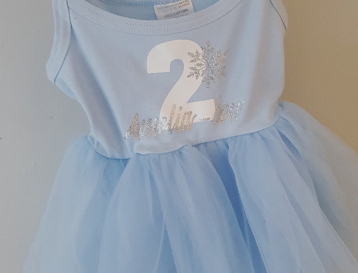 Frozen Birthday tutu  Dress