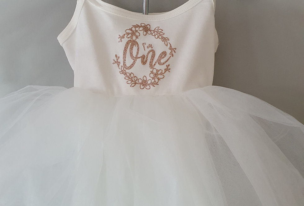 Floral birthday tutu  Dress