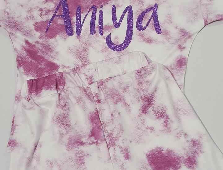 Tie dye short set (girls)