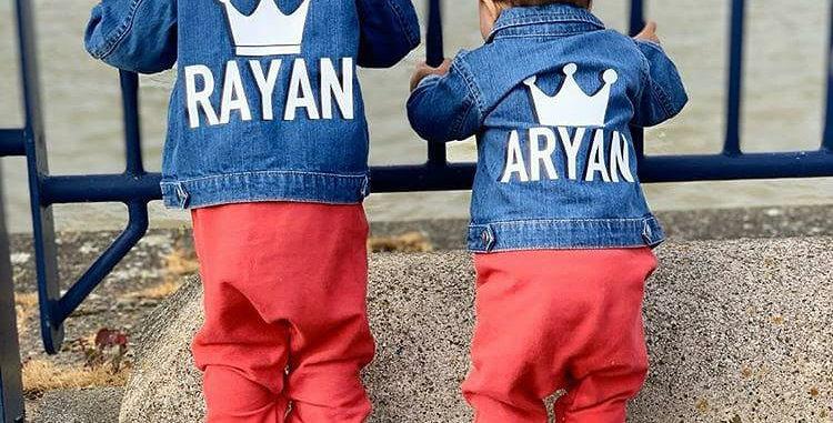 Crowned Personalised Denim Jacket 3m-13yrs (BOYS)