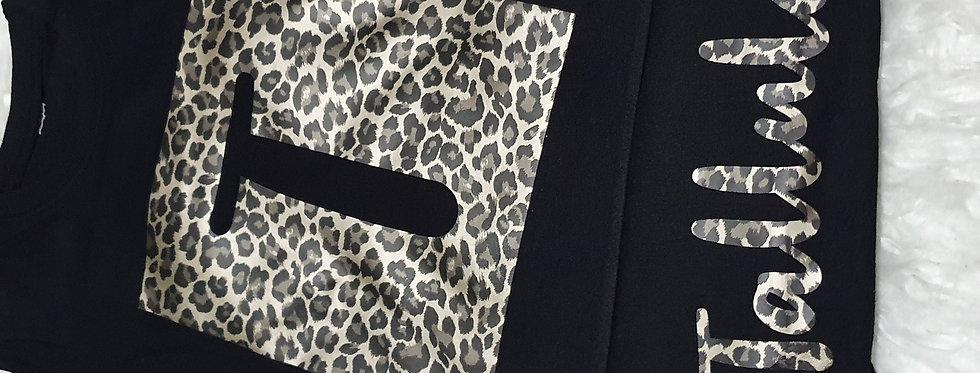 Leopard Print Personalised set