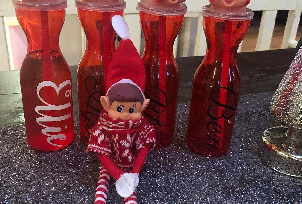 Personalised elf on the shelf bottle