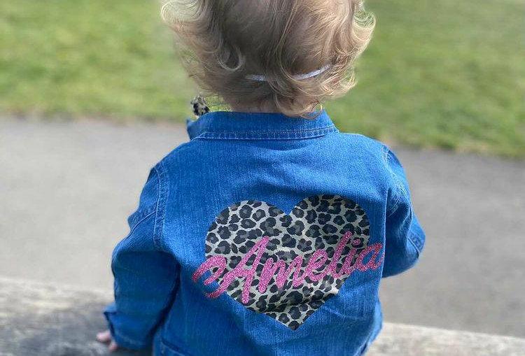 Leopard Print Heart Jacket 3m-13yrs (girls)