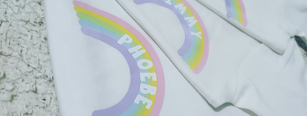 Rainbow Personalised Tshirt