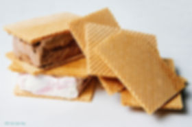 Traditional wafer ice cream