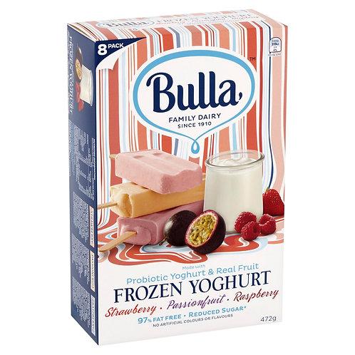 Bulla Frozen Yoghurt Stick - Strawberry | Passionfruit | Raspberry (8pc x 59g)