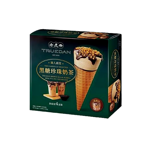 Truedan Brown Sugar Bubble Tea Ice Cream (4pc x 150g)