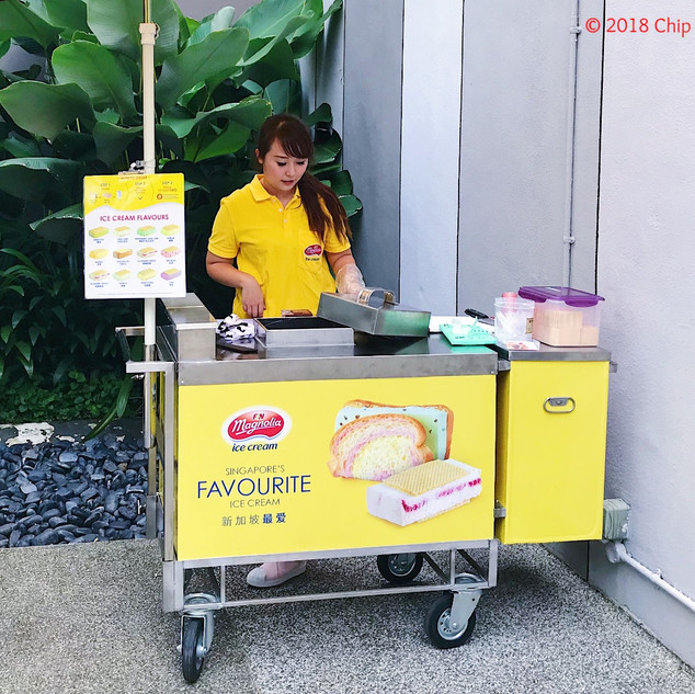 Traditional Magnolia ice cream cart for corporate functions