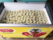 Ice cream live station and traditional ice cream push cart for corporate events and functions