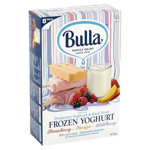 Bulla Frozen Yoghurt Stick - Strawberry | Mango | Wildberry (8pc x 59g)