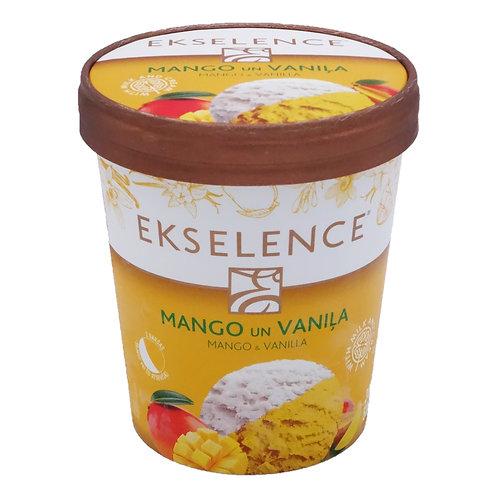 Ekselence Mango Sorbet with Vanilla Pint (2 pints x 300g)