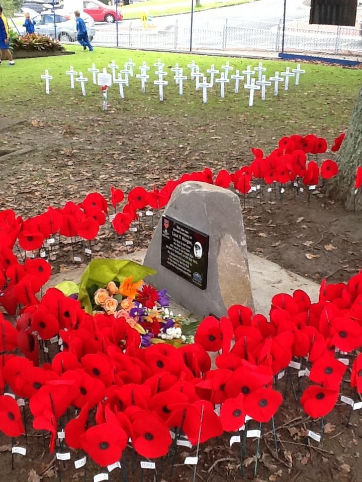 new lynn memorial for Lieut Harry Morgan