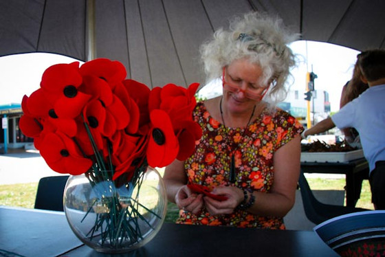 2012 sewing first poppies.jpg