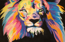 The lion in pastel