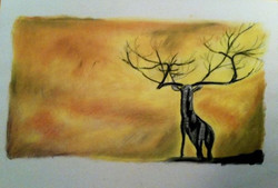 Sunday Deer sketch
