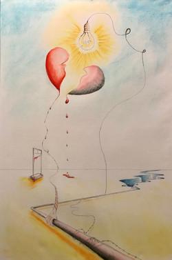 Holding onto half a heart