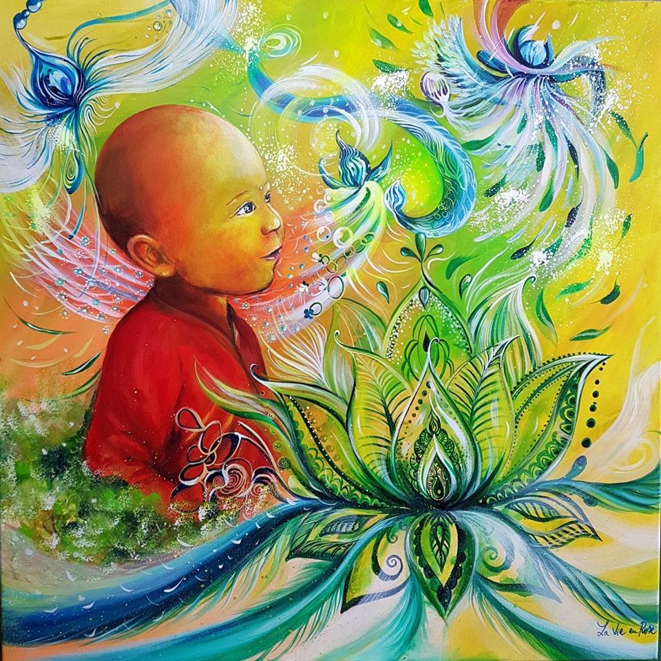 """Petit bouddha au Lotus"""