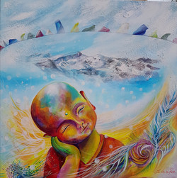 Petit bouddha, prières tibétaines