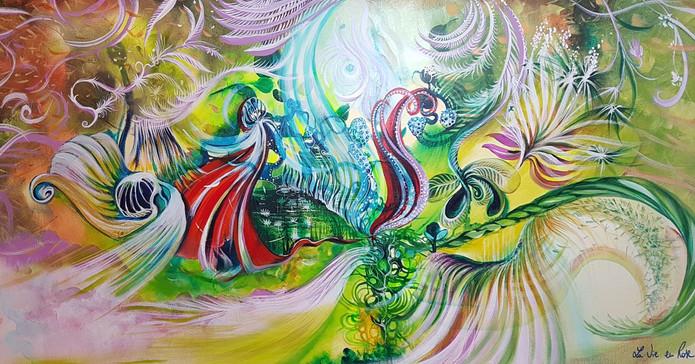 Peinture Flammes Jumelles