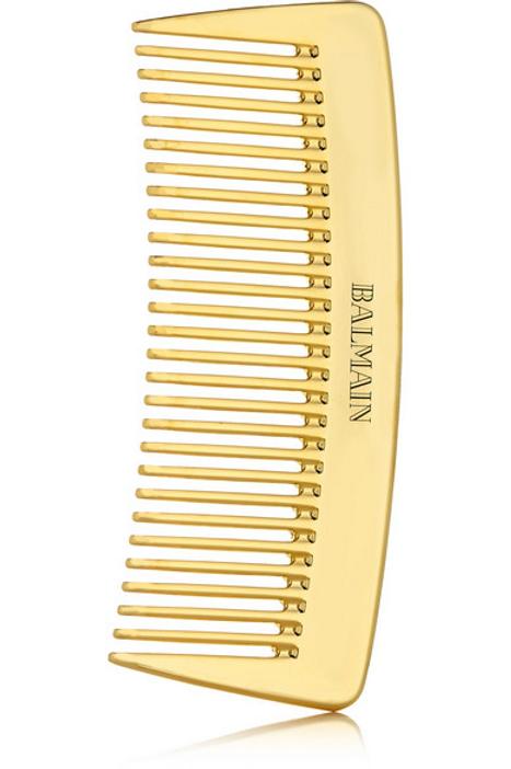 BALMAIN 14 Karat Gold Plated Golden Pocket Comb