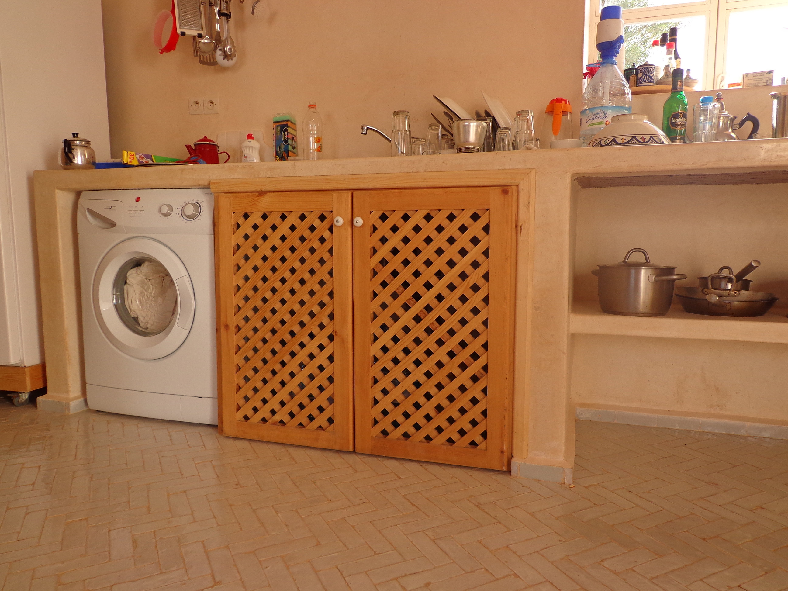 msassa k che mit waschmaschine. Black Bedroom Furniture Sets. Home Design Ideas