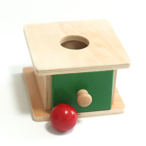 Wooden Round Ball Deposit Wafer Drawer Box
