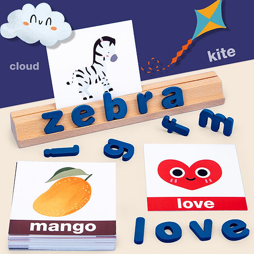 Early Learning Vocabulary Spelling Building Blocks