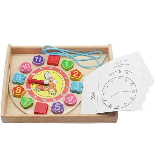 Clock Time Cognition Flip Chart Puzzle Game Set