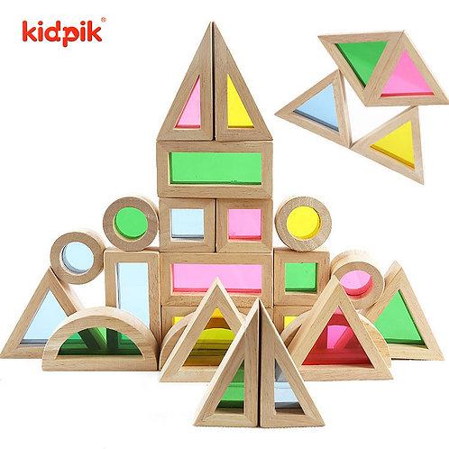 Kidpik Acrylic 24pcs Rainbow Building Block