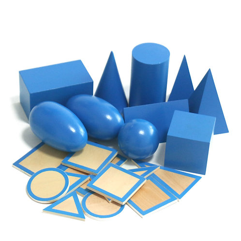 Montessori Geometric Solids with Base