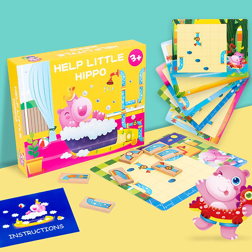 Help Little Hippo Puzzle Game