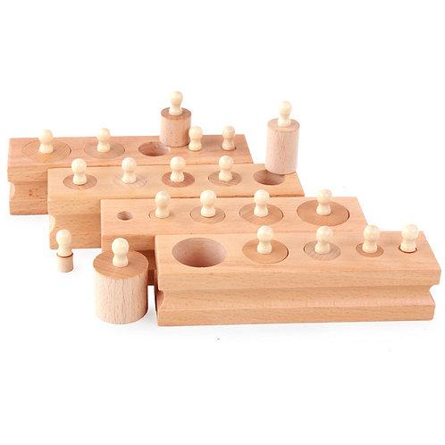 Knobbed Cylinder Sorting Blocks