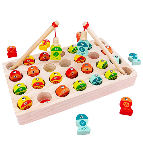 Duoqu Wooden Letters Fishing Game