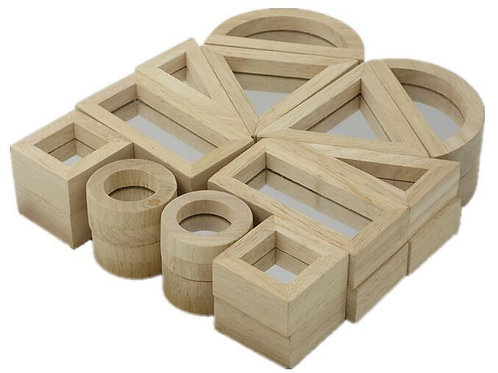 Kidpik Wooden Mirror Building Blocks
