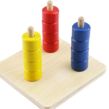 Montessori Tricolour Vertical Collar Game