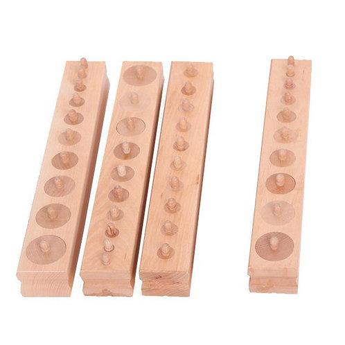Extra Large Professional Knobbed Cylinder Sorting Blocks