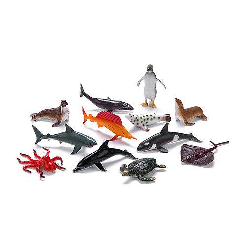 12pcs Simulated Ocean Plastic Toys