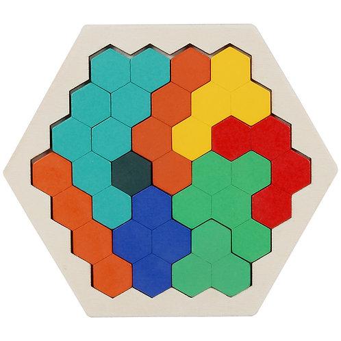 Wooden Geometric Jigsaw Polygon Puzzle - Type 1
