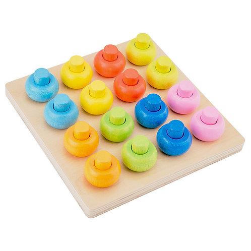 Montessori Colour Sorting Rings Activity Board