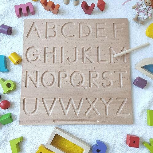 Wooden Groove Alphabet Writing Practice Board