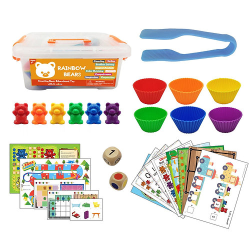 Rainbow Bears Counting Bears Educational Toy with 6 Colours