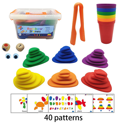 Rainbow Pebbles Stacking and Matching Game