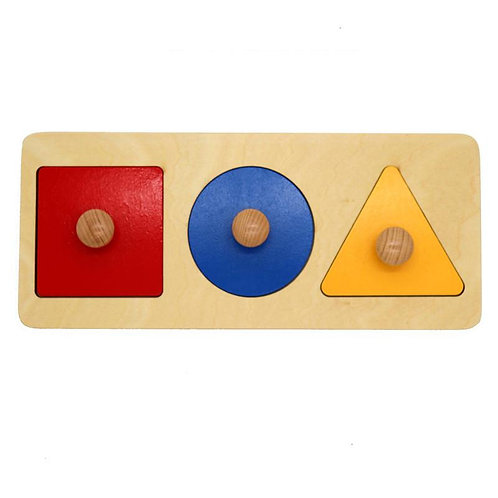Wooden Tri-Colour Geometry Panel
