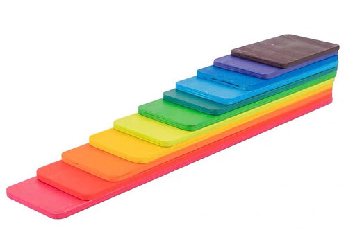 11-Layered Rainbow Strip Basswood Plywood