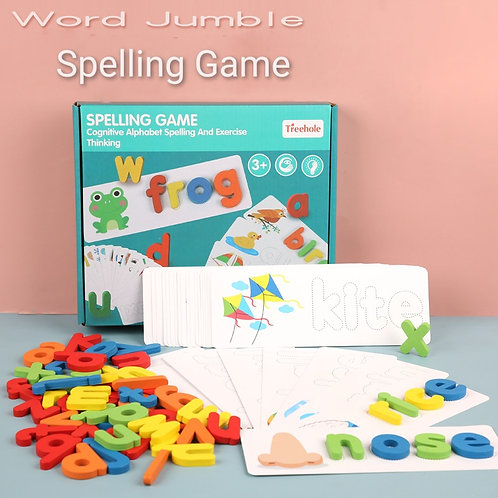 Treehole Wooden Cognitive Alphabet Spelling and Exercise Thinking Game