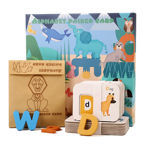 Alphabet and Number Paired Card Game