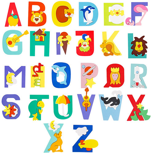 26 Alphabet Letters Interactive Puzzle Learning Game